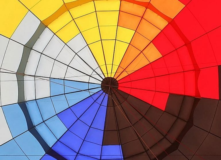 Hot air balloon interior