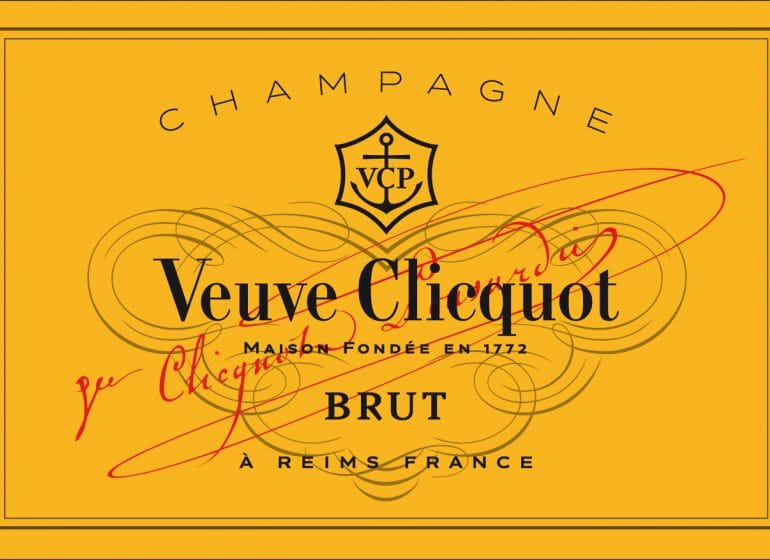 Veuve clicquot champagner label