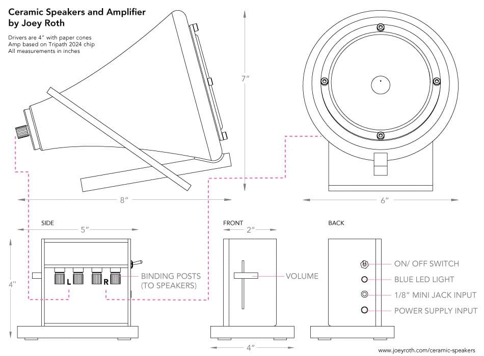 Ceramic speakers schematic